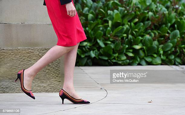 Prime Minister Theresa May pictured leaving Stormont Castle after a meeting with Northern Ireland first minister Arlene Foster and deputy first...