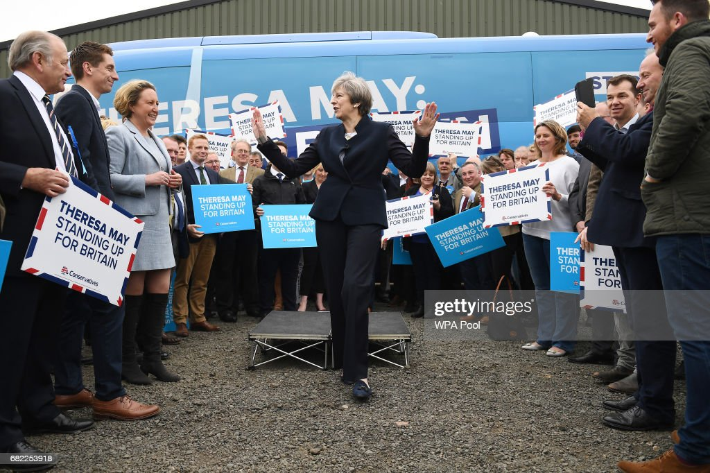 Theresa May Campaigns In Labour's Heartland Of North Tyneside : News Photo