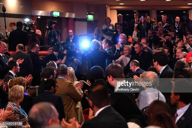 Prime Minister Theresa May waves after speaking during the Conservative Party Conference on October 3 2018 in Birmingham England Theresa May gave her...