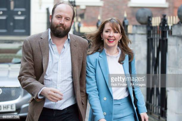 Prime Minister Theresa May's chief of staff Nick Timothy and Jointchief of staff Fiona Hill leave Conservative Party HQ in Westminster London as Mrs...