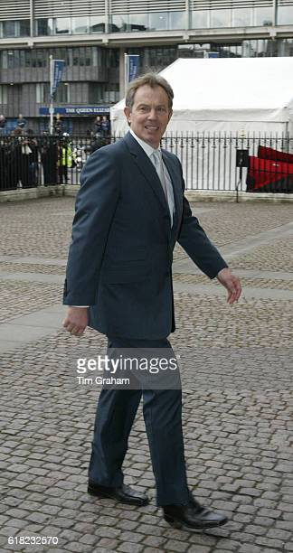 Prime Minister Tony Blair arrives at Westminster Abbey for the Commonwealth Observance Service Political leaders Politicians
