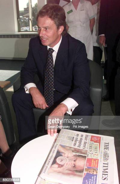 Prime Minister Tony Blair at the Ambulatory Care and Diagnostic Centre at the Central Middlesex Hospital in Brent London where he anounnced a 20...
