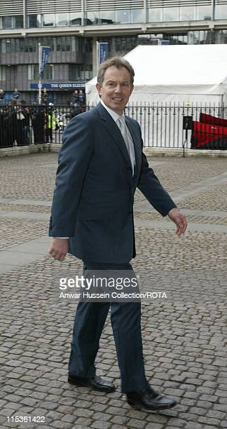 Prime Minister Tony Blair at Westminster Abbey for an Observance of Commonwealth Day