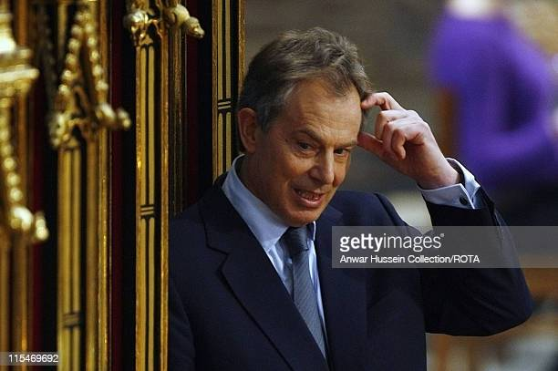 Prime Minister Tony Blair attends the Service interrupted by a protestor to mark the Bicentenary of the Abolition of the Slave Trade Act in...