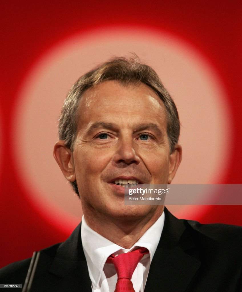Prime Minister Tony Blair makes his keynote speech at the Labour Party conference on September 27, 2005 in Brighton, England. Mr Blair outlined a raft of reforms for the public services in his speech to party members.