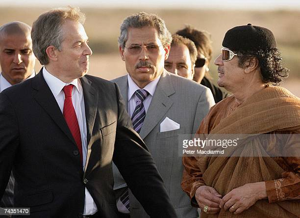 Prime Minister Tony Blair meets with Colonel Muammar Abu Minyar alGaddafi on May 29 2007 in Sirte Libya Mr Blair is on a five day visit to meet with...