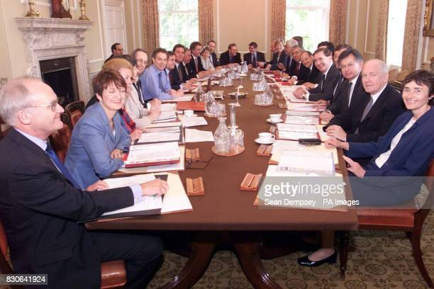 Prime Minister Tony Blair meets with his cabinet in Downing Street Westminster central London * Clockwise from left Leader of the House of Lords Lord...