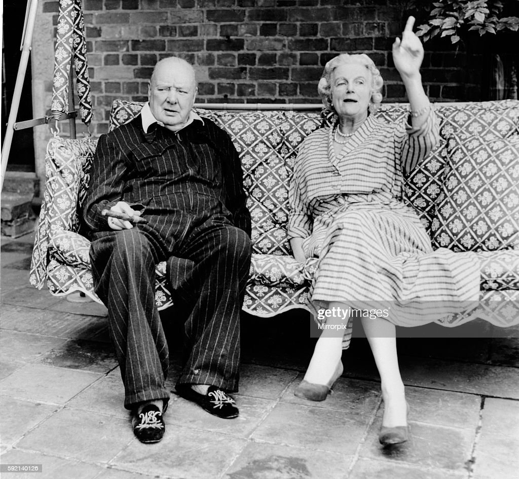 prime minister winston churchill with wife clementine. Black Bedroom Furniture Sets. Home Design Ideas