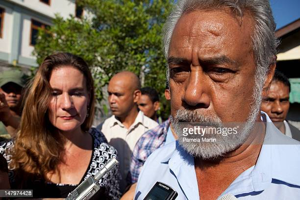 Prime Minister Xanana Gusmao and his wife Kirsty Gusmao cast their vote during Parliamentary Elections on July 7 2012 in Dili East Timor 21 parties...