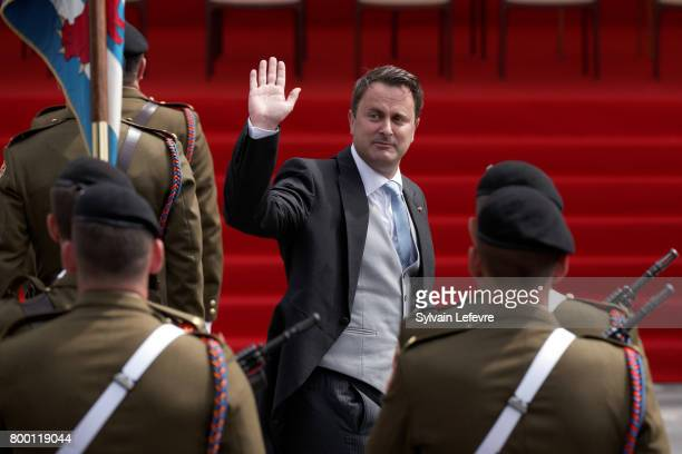 Prime Minister Xavier Bettel attends National Day parade on June 23 2017 in Luxembourg Luxembourg