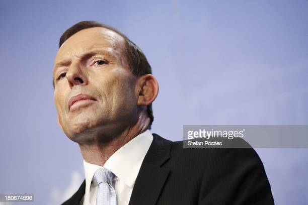 Prime Minister-elect Tony Abbott announces his ministery at Parliament House on September 16, 2013 in Canberra, Australia. Tony Abbot will be sworn...
