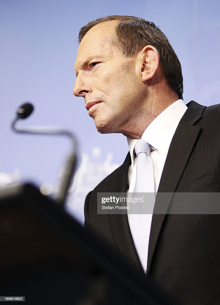 Tony Abbott Announces Leadership Team : News Photo