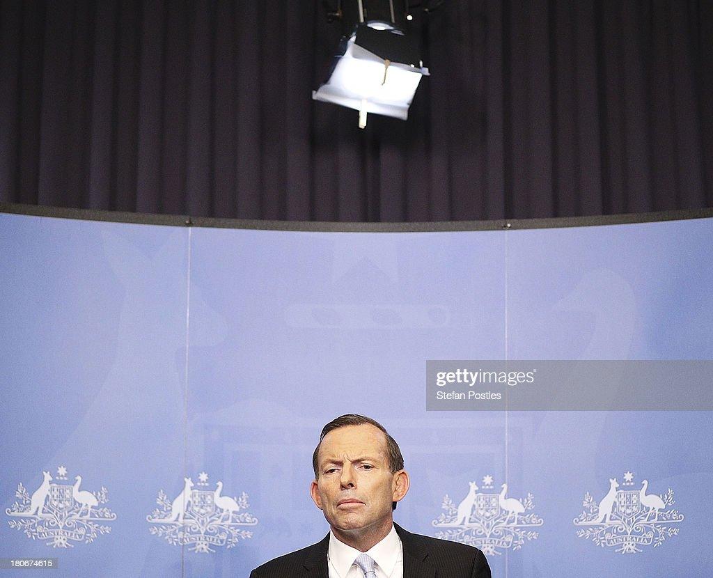 Tony Abbott Announces Leadership Team : News Photo