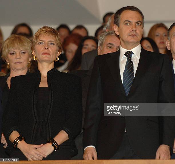 Prime MinisterIes Wife Sonsoles Espinosa and Prime Minister Rodriguez Zapatero On the eve of the second anniversary of the Madrid train bombings...
