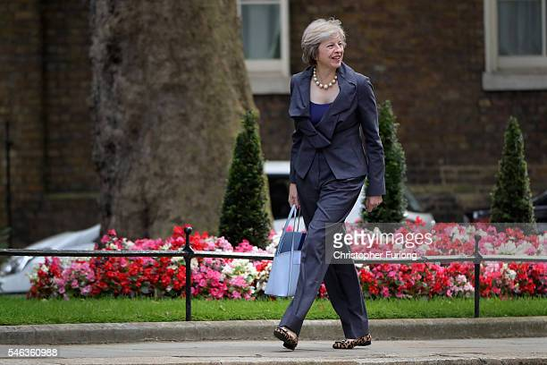 Prime Ministerinwaiting Theresa May arrives for a cabinet meeting at Downing Street on July 12 2016 in London England David Cameron will step aside...
