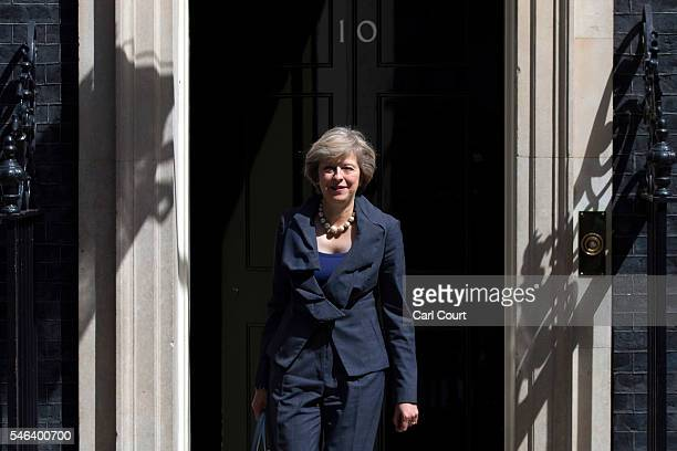 Prime Ministerinwaiting Theresa May leaves after attending a Cabinet meeting at Downing Street on July 12 2016 in London England David Cameron will...
