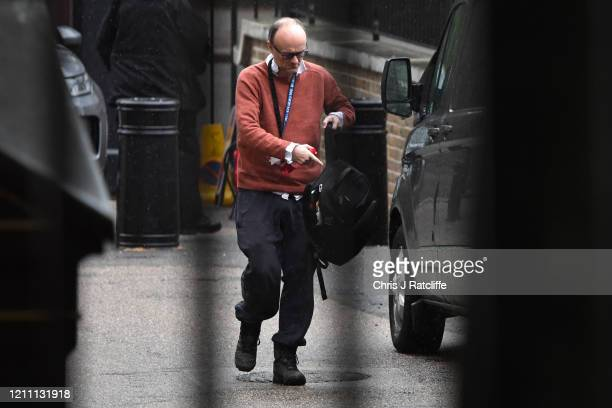 Prime Minister's Chief Advisor Dominic Cummings arrives at Downing Street on April 28 2020 in London England British Prime Minister Boris Johnson who...