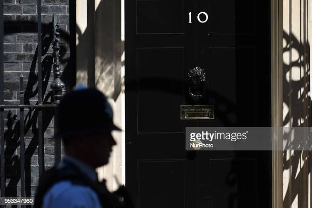 UK Prime Minister's office and residence at 10 Downing Street in London on 1st May 2018