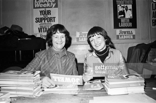 Prime Minister's wife Audrey Callaghan was today at the Labour party offices at Ilford She was helping Tessa Jowell the Labour candidate to send out...