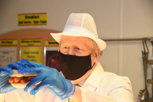 GBR: Boris Johnson Visits A Hospital To Mark The Publication Of A Review On Hospital Food