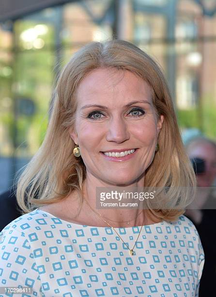 Prime minster Helle ThorningSchmidt of Denmark attends the inauguration of the house of foreign industry on June 10 2013 in Copenhagen Denmark