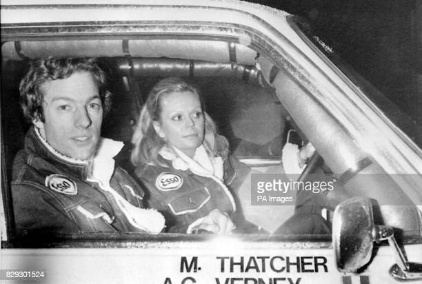Prime Minster Margartet Thatcher's 28yearold son Mark and his codriver Charlotte Verney leaving Paris on 30 December at the start of the Paris/Dakar...