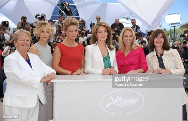 Prime Minster of Norway DrGro Bruntland actress Meg Ryan director Lucy Walker Queen Noor of JordanValerie Plame Wilson and producer Diane Weyermann...