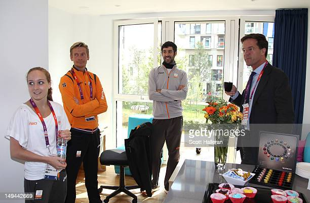 Prime Minster of the Netherlands Mark Rutte during a tour of the Olympic Village on Day 1 of the London 2012 Olympics Games on July 28 2012 in London...