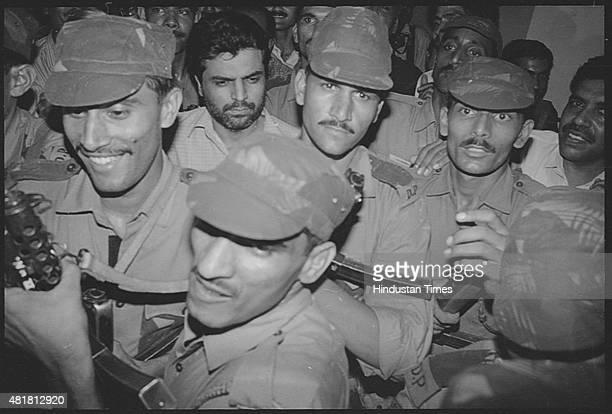 Prime suspect of the 1993 Mumbai bomb blasts case Yakub Abdul Razak Memon being produced at Patiala House Court on August 17, 1994 in New Delhi,...