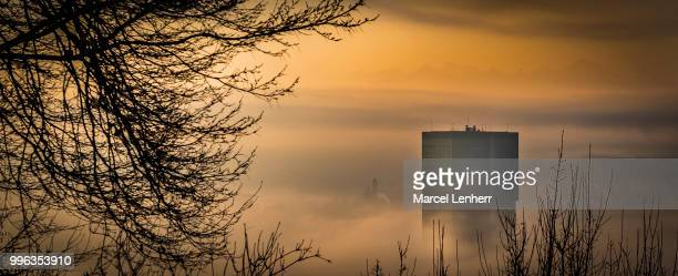 Prime Tower above the fog