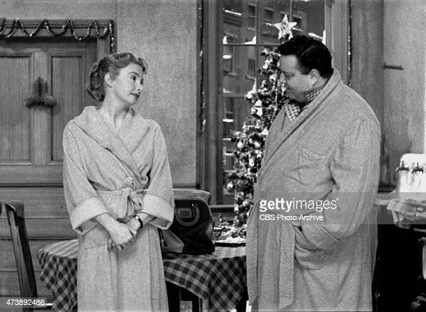 Primetime Series The Honeymooners Jackie Gleason and Audrey Meadows Episode 'Twas the Night Before Christmas' Image dated December 1955