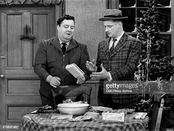 Primetime Series The Honeymooners Jackie Gleason Art Carney Episode 'Twas the Night Before Christmas' Image dated December 1955