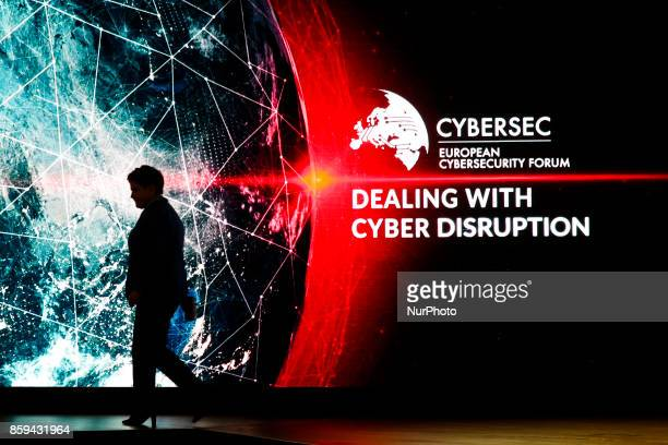 Primie Minister Beata Szydlo at 3rd European Cybersecurity Forum CYBERSEC 2017 in Krakow Poland on 9 October 2017 CYBERSEC is the first conference of...