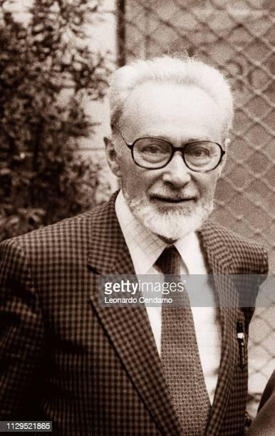 Primo Levi Italian writer Turin Italy September 1986