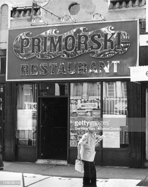 Primorski Restaurant, Russian restaurant to cater to the numerous recent Russian immigrants, Brighton Beach, Brooklyn, New York, New York, 1984.