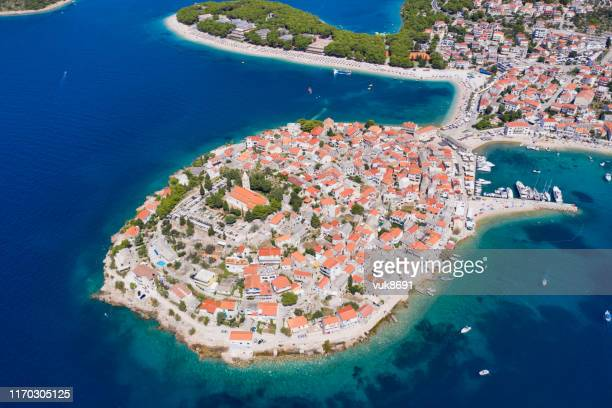 primosten old town - peninsula stock pictures, royalty-free photos & images