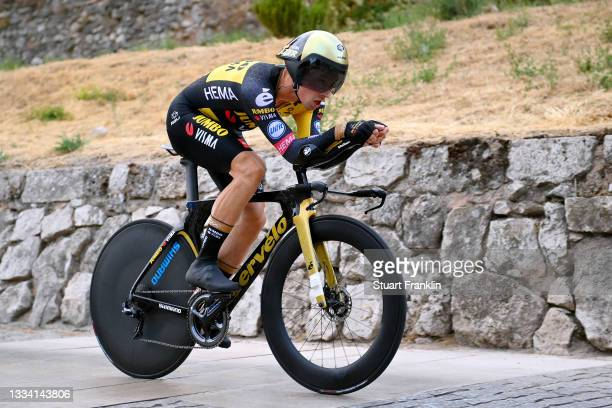 Primoz Roglic of Slovenia and Team Jumbo - Visma competes during the 76th Tour of Spain 2021, Stage 1 a 7,1km individual time trial from Burgos -...