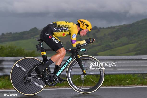 Primoz Roglic of Slovenia and Team Jumbo Visma / during the 102nd Giro d'Italia 2019 Stage 9 a 348km Individual Time Trial from Riccione to San...