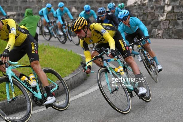 Primoz Roglic of Slovenia and Team Jumbo - Visma / during the 102nd Giro d'Italia 2019, Stage 18 a 222km stage from Valdaora to Santa Maria di Sala...