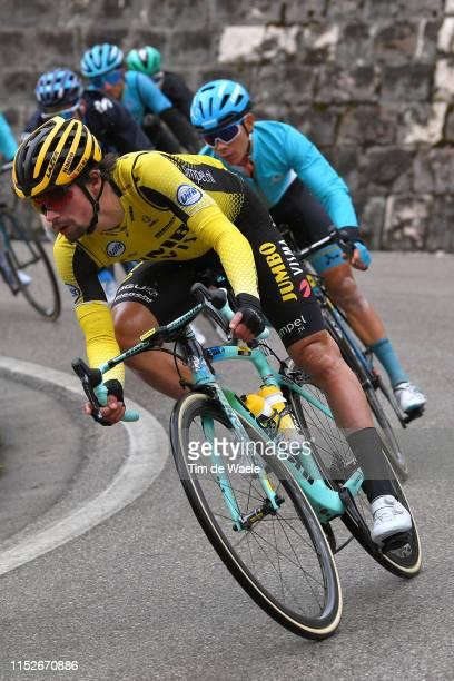 Primoz Roglic of Slovenia and Team Jumbo Visma / during the 102nd Giro d'Italia 2019 Stage 18 a 222km stage from Valdaora to Santa Maria di Sala Tour...