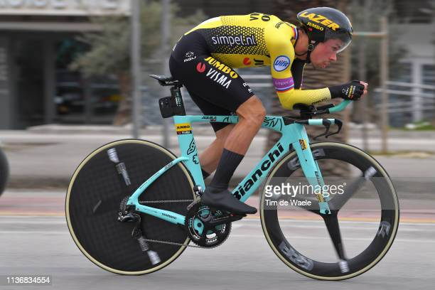 Primoz Roglic of Slovenia and Team Jumbo Visma / during the 54th TirrenoAdriatico 2019 Stage 7 a 1005km Individual Time Trial stage from San...
