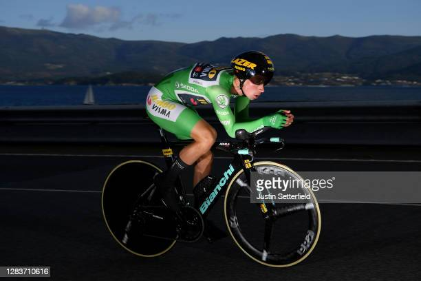 Primoz Roglic of Slovenia and Team Jumbo - Visma Green Points Jersey / during the 75th Tour of Spain 2020, Stage 13 a 33,7km Individual Time Trial...