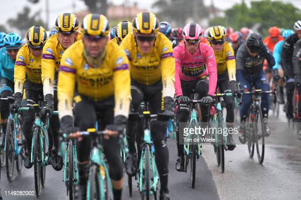 Primoz Roglic of Slovenia and Team Jumbo - Visma Pink Leader Jersey / during the 102nd Giro d'Italia 2019, Stage 5 a 140km stage from Frascati to...