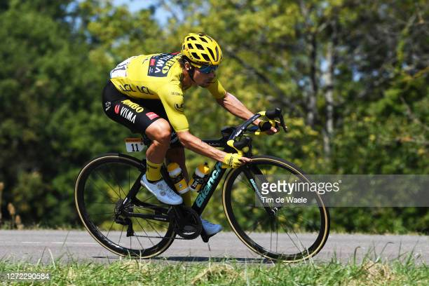 Primoz Roglic of Slovenia and Team Jumbo - Visma Yellow Leader Jersey / during the 107th Tour de France 2020, Stage 15 a 174,5km stage from Lyon to...