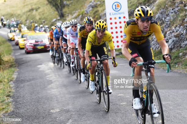 Primoz Roglic of Slovenia and Team Jumbo - Visma Yellow Leader Jersey / Grand Colombier / during the 107th Tour de France 2020, Stage 15 a 174,5km...