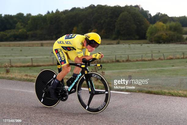 Primoz Roglic of Slovenia and Team Jumbo - Visma Yellow Leader Jersey / during the 107th Tour de France 2020, Stage 20 a 36,2km Individual Time Trial...