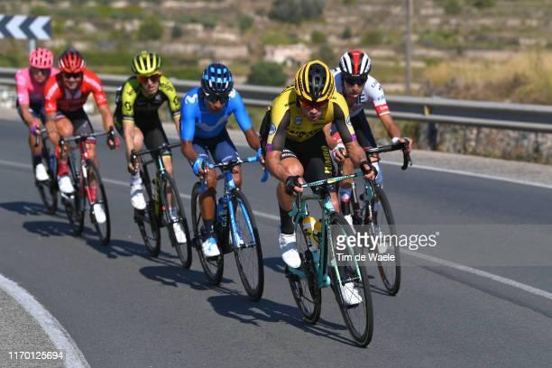 Primoz Roglic of Slovenia and Team JumboVisma / Fabio Aru of Italy and UAE Team Emirates / Nairo Quintana of Colombia and Movistar Team / Mikel Nieve...
