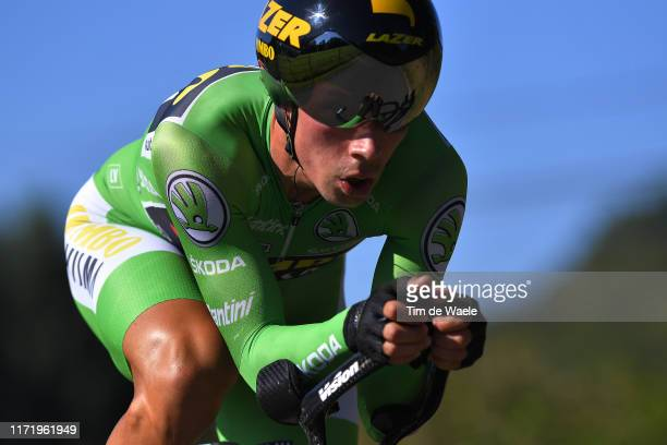 Primoz Roglic of Slovenia and Team Jumbo-Visma Green Points Jersey / during the 74th Tour of Spain 2019, Stage 10 a 36,2 Individual Time Trial stage...