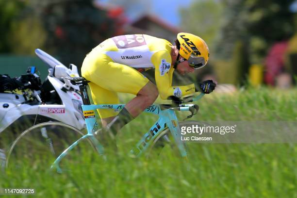 Primoz Roglic of Slovenia and Team Jumbo-Visma Yellow Leader Jersey / during the 73rd Tour de Romandie 2019, Stage 5 a 16,9km Individual Time Trial...