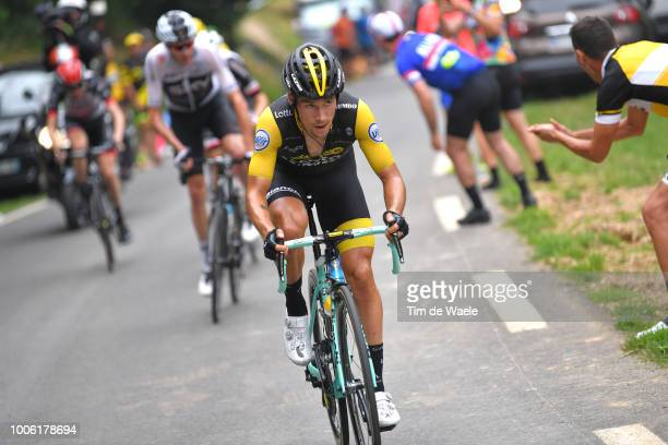 Primoz Roglic of Slovenia and Team LottoNL Jumbo / Christopher Froome of Great Britain and Team Sky / during the 105th Tour de France 2018 Stage 19 a...